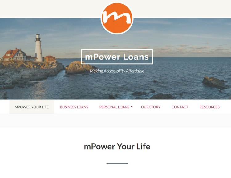 screen shot mPower Loans