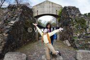 Andrea at the drawbridge
