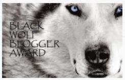 Premio - Black wolf blogger award