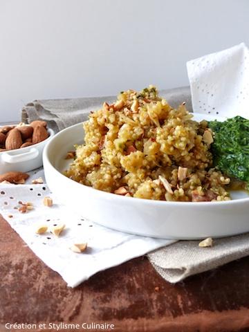 Un quinoa croquant aux petits légumes