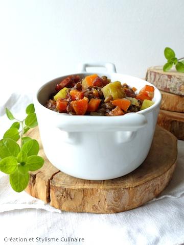 Allier les lentilles et les légumes dans le cadre d'un régime sans gluten