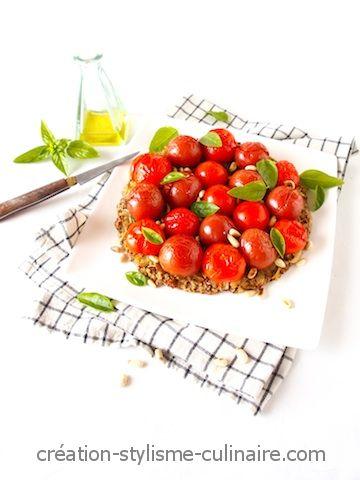 Tarte aux tomates cerises 1