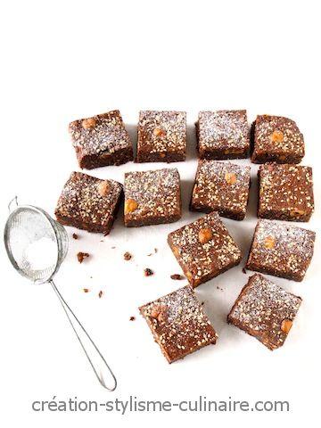 Brownie sans gluten sésame noisette 2