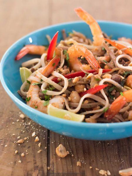 pâtes sans gluten façon pad thaï