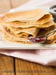 crepes sans gluten purée de noisette
