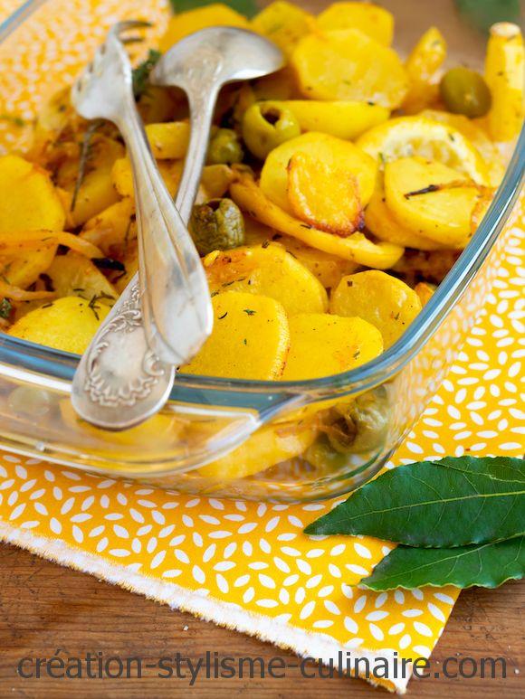 Pommes de terre thym citron