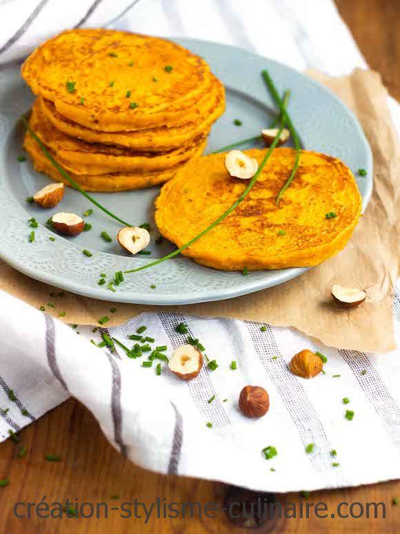 blinis sans gluten à la carotte