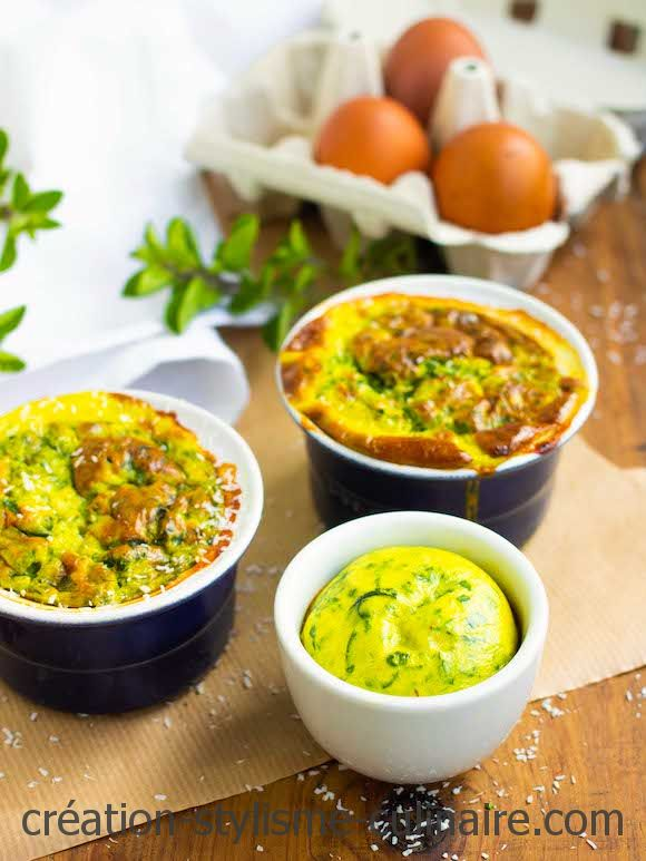 flans épinards curry