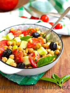 salade tomates pois chiches