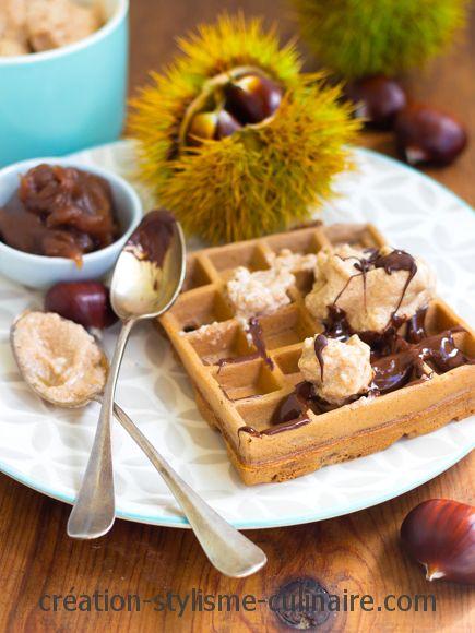 Gaufres sans gluten mousse de crème de marron