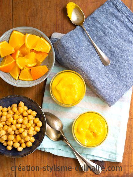 mousse potimarron orange pois chiche