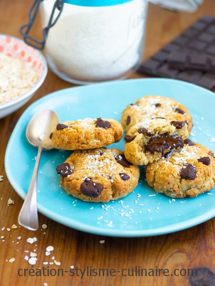 Cookies sans gluten coeur coulant chocolat