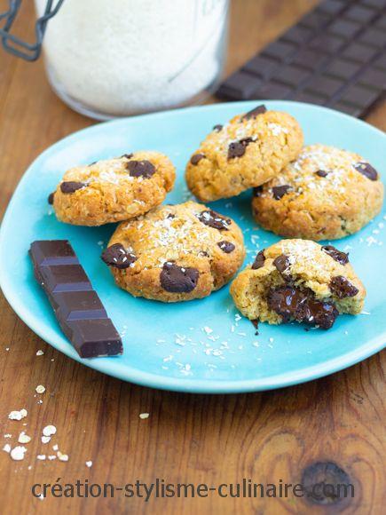 Cookies sans gluten coeur coulant chocolat-