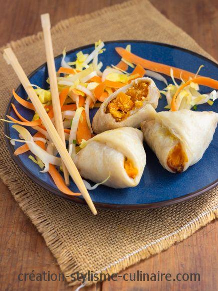 Samossas sans gluten feuilles de riz