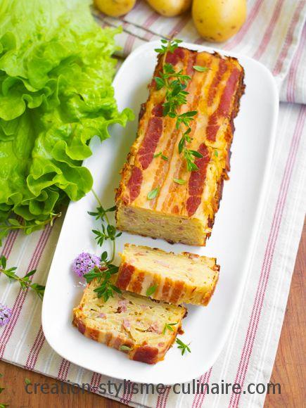 cake salé sans farine à la pomme de terre
