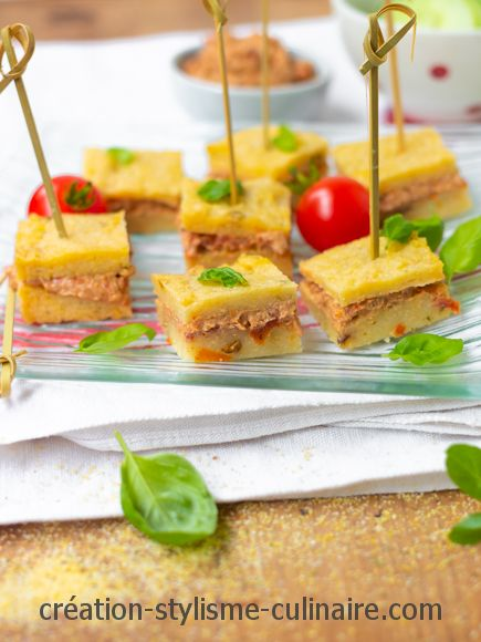 toasts de polenta apéritif