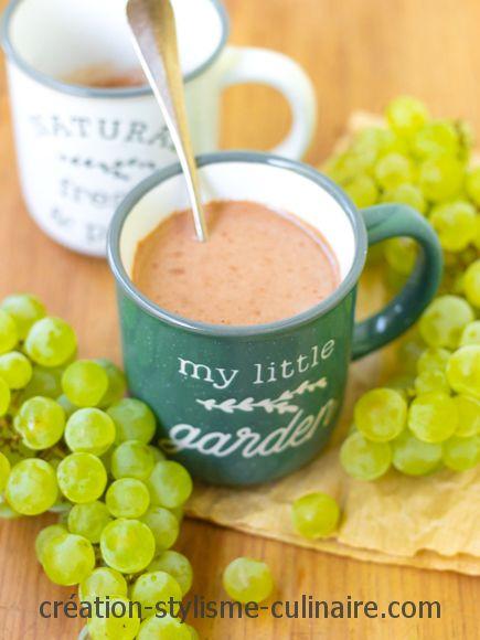Chocolat chaud au beurre de cacahuète