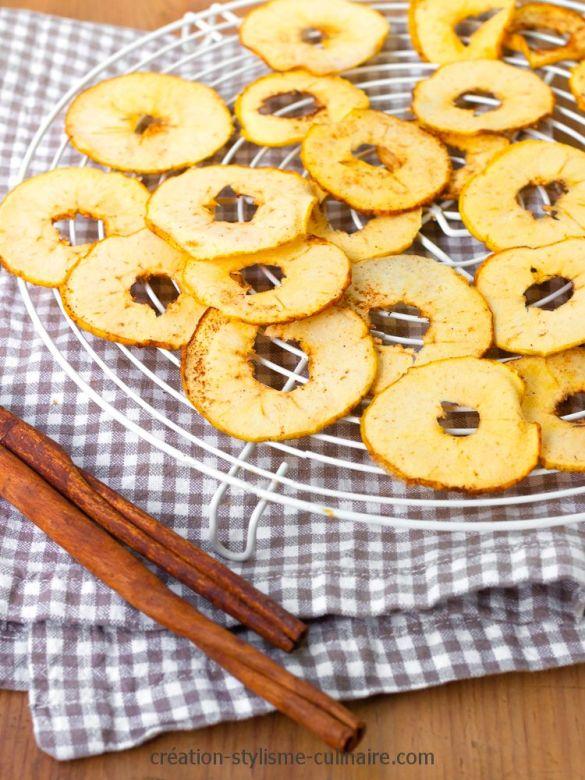 Chips de pommes au four