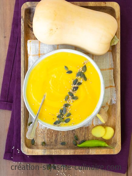 Velouté de courge curry lait de coco