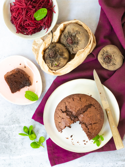 gâteau chocolat betterave