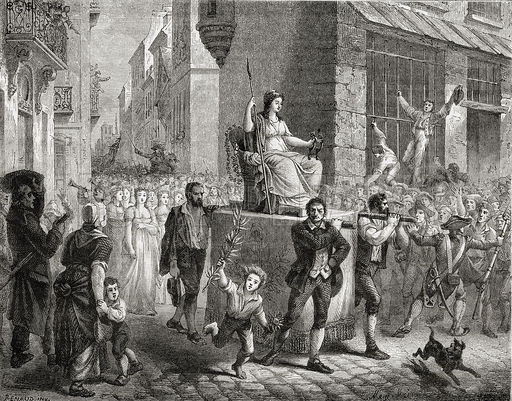 Litija boginje Razuma, Pariz, 10. novembar 1789.