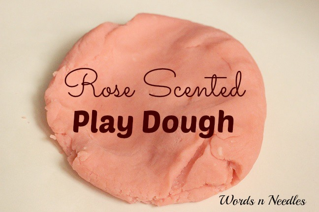 rose scented Rooh Afza play dough