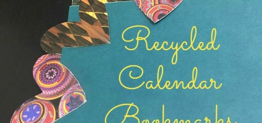 recycled calendar bookmarks