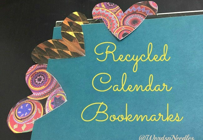 Recycled Calendar Bookmarks!