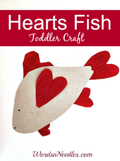 hearts Fish toddler craft