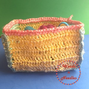 crochet basket plastic bags wordsnneedles