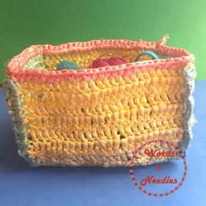 crochet basket plastic bags wordsnneedles