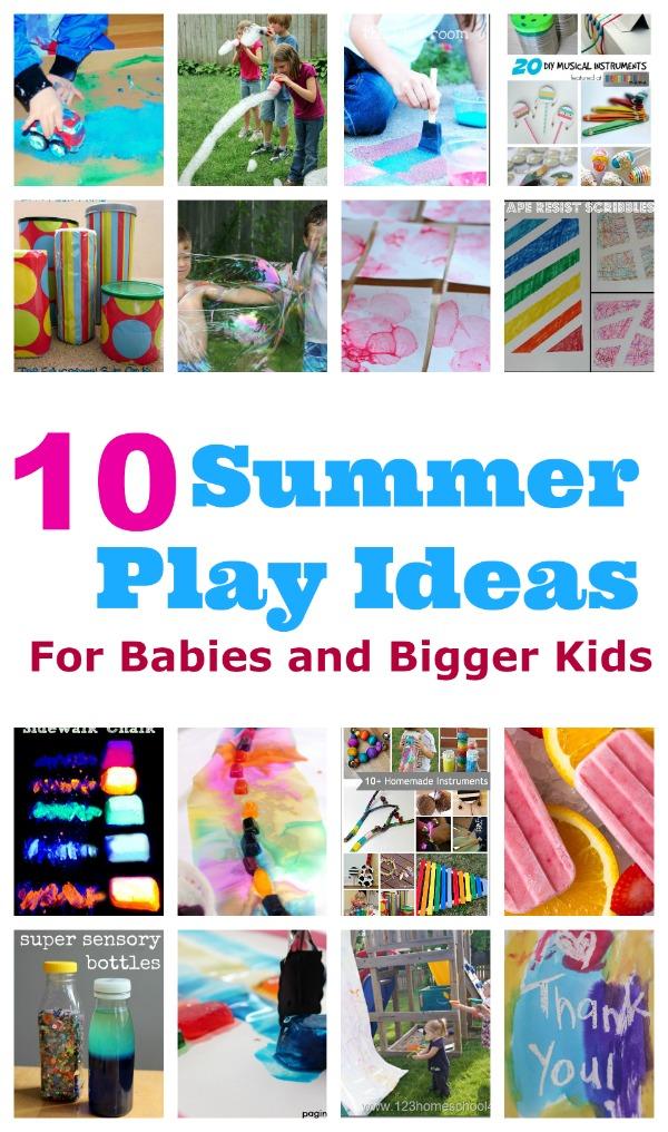 summer play ideas bigger kids babies top ten summer play