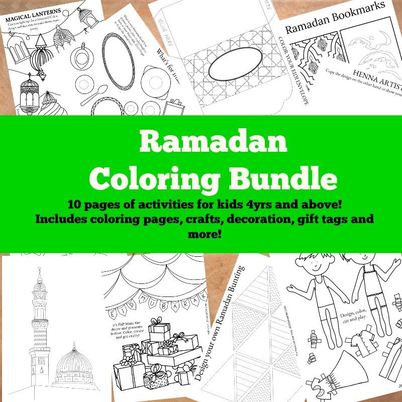Ramadan Coloring Bundle Jeddah Mom