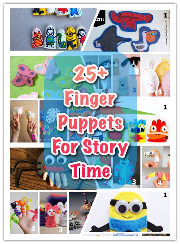 Fun Free finger puppet ideas for babies toddlers and bigger kids for story time