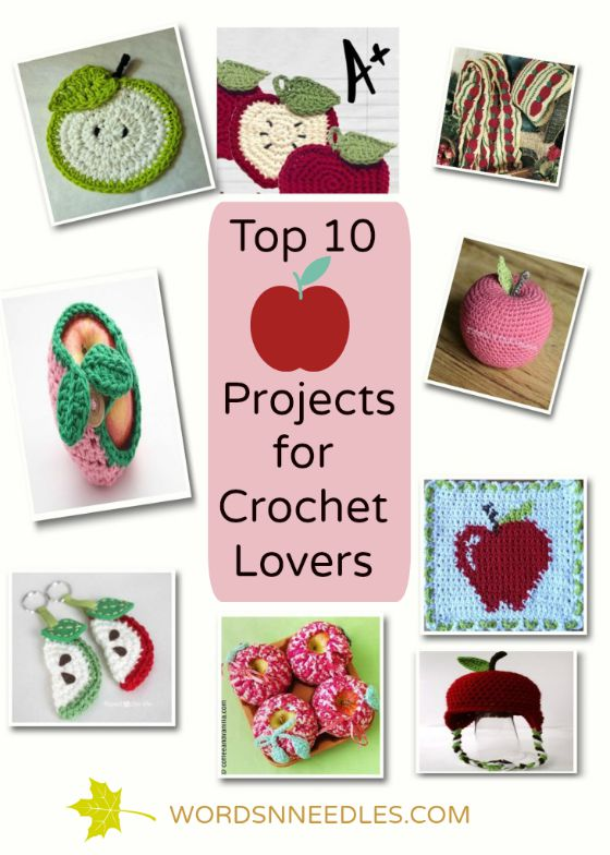 DIY back to school fall themed apple projects for crochet lovers wordsnneedles