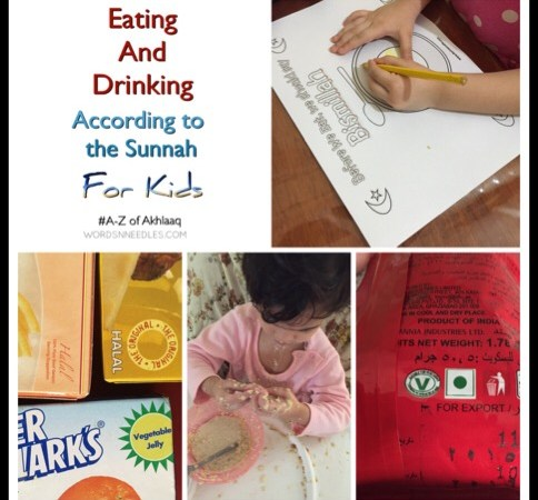 E is for Eating and Drinking According to The Sunnah