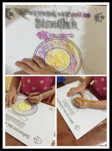 activity eating drinking according to sunnah islamic manners place mat coloring