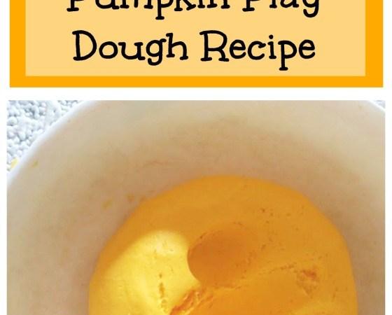 pumpkin play dough recipe two ingredients no cook no mess fall sensory play