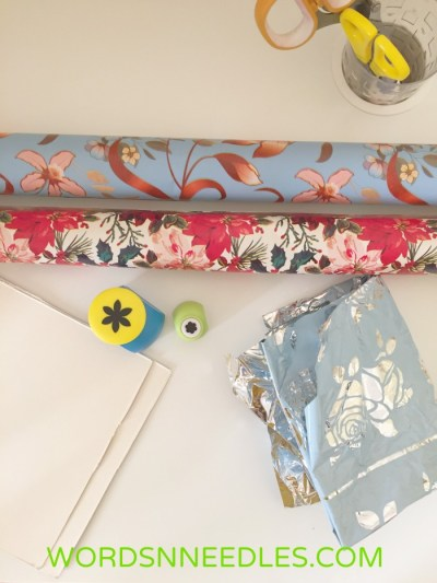 gift wrapping paper activity