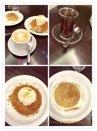 Dessert and coffee kunafa Kosebasi Restaurant WordsnNeedles Food Reviews