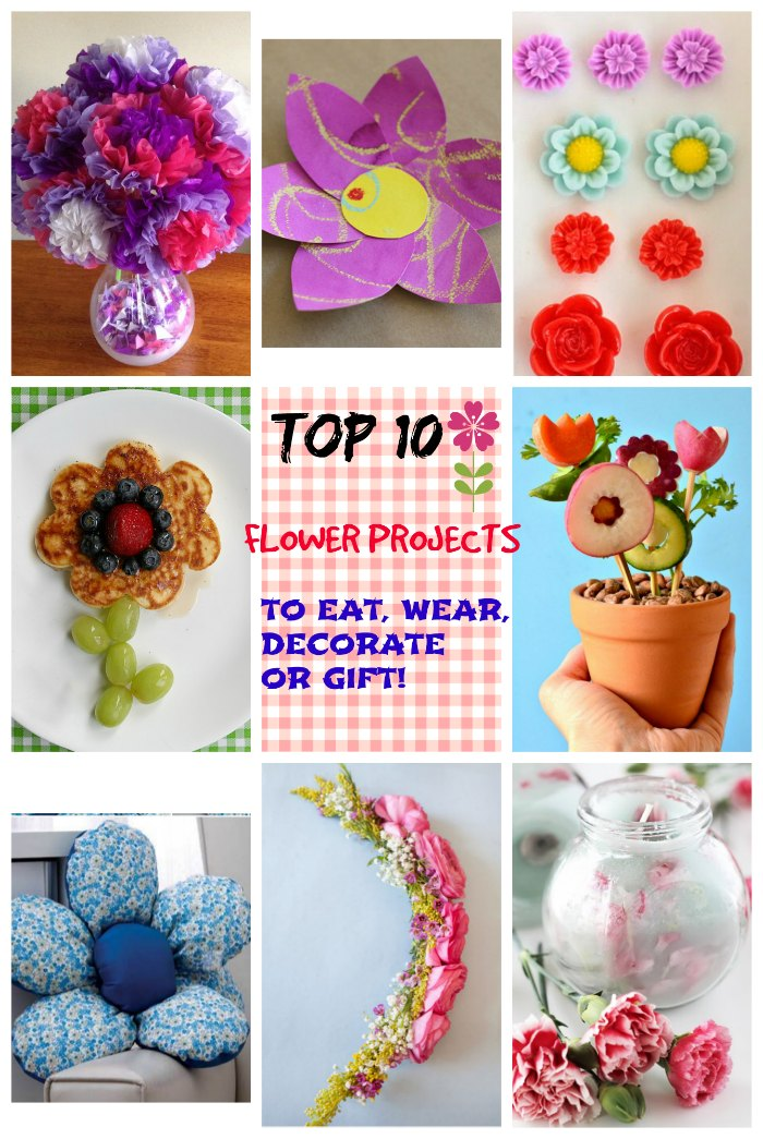 top 10 flower projects to decorate eat wear gift craft ideas for kids in the kitchen toddlers
