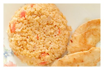 bulgur wheat pilaf recipe with tomatoes and onions