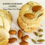 Almond Flour Raisin Cookies Recipe- Healthy and Gluten Free