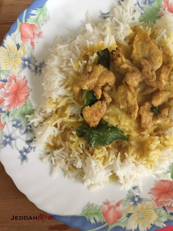 Kashmiri Chicken Dal with White Rice