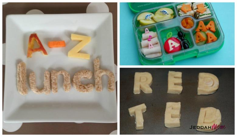 Alphabet lunch box ideas Jeddah Mom