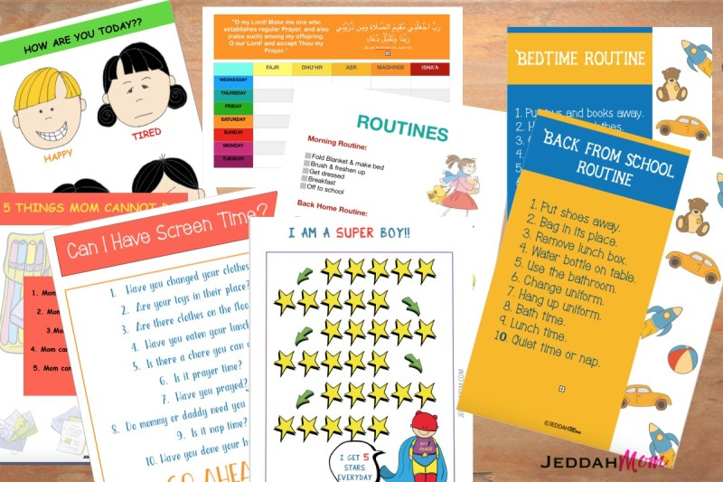 Free Routine charts on JeddahMom