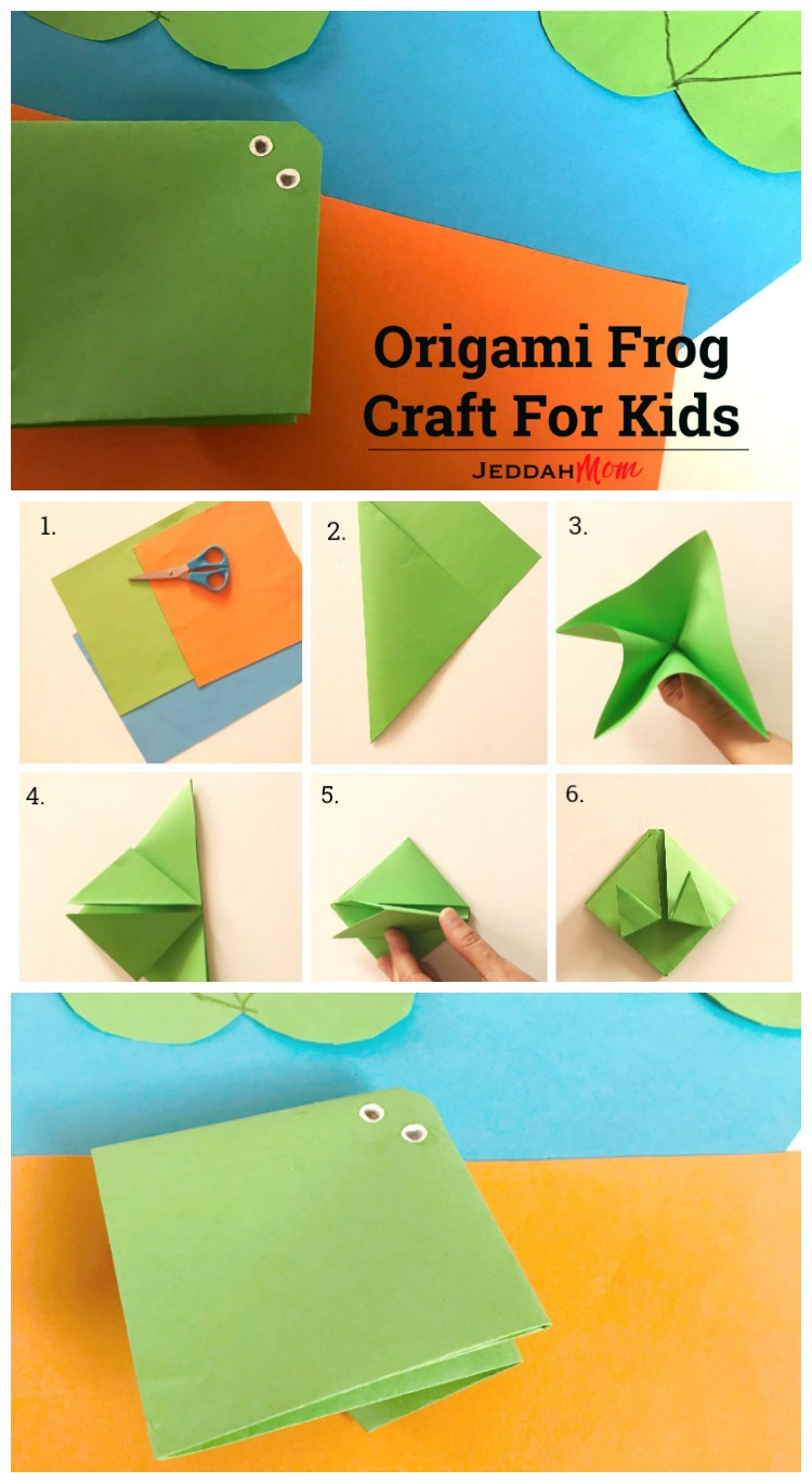 Help Your Child Make This Simple Paper Craft Origami Frog Crafts For Kids Jeddah Mom