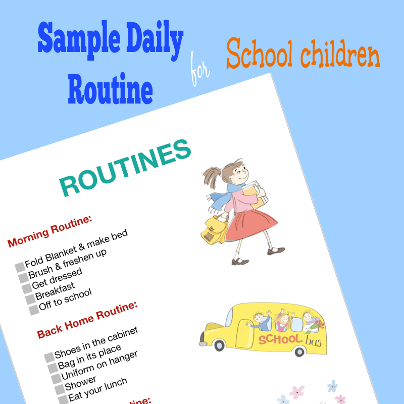 photo about Children's Routine Charts Free Printable named Pattern Day-to-day Timetable Chart for Small children