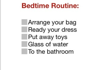 bedtime part Routine Chart for kids JeddahMom