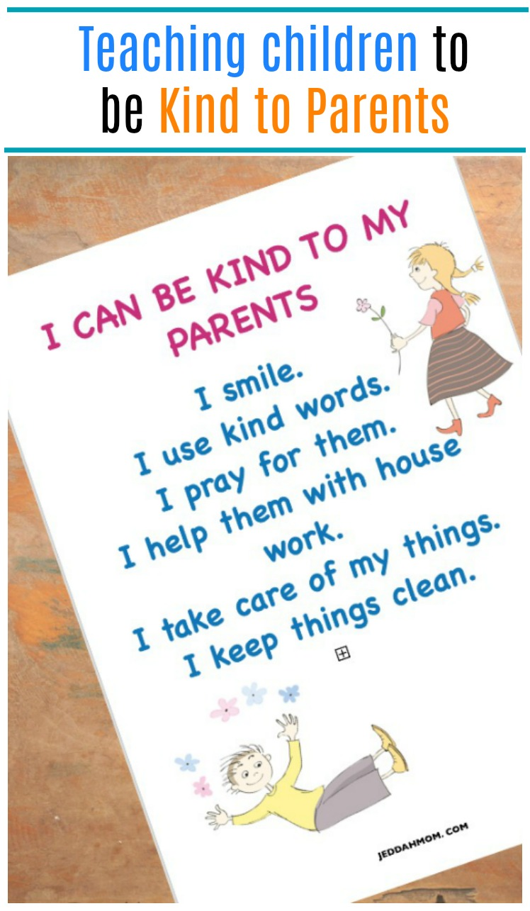 Teaching Children to be kind to parents Kindness to Parents Kindness in Islam Jeddah Mom